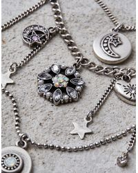 American Eagle - Multicolor Silver Star & Moon Layering Necklaces - Lyst