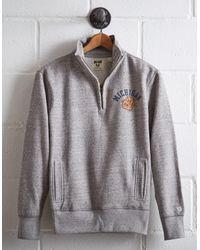 Tailgate Gray Men's Michigan Half-zip Fleece Popover for men