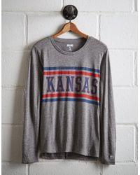 Tailgate Gray Women's Kansas Long Sleeve T-shirt