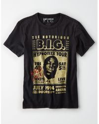 American Eagle - Black Ae Notorious B.i.g. Graphic Tee for Men - Lyst