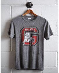 Tailgate Gray Men's Georgia Bulldogs T-shirt for men