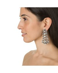 Lulu Frost | Metallic Rococo Statement Earrings | Lyst