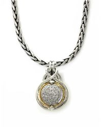 Effy | Metallic Balissima Diamond Accented Pendant In Sterling Silver With 18k Yellow Gold | Lyst