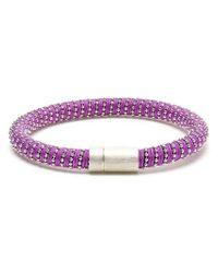 Carolina Bucci | Purple 18kt Gold-plated Sterling Silver Twisted Bracelet | Lyst
