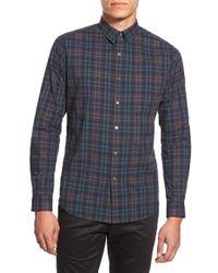 Theory - Multicolor 'zack. Winterton' Trim Fit Plaid Sport Shirt for Men - Lyst