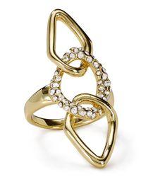 Alexis Bittar - Metallic Miss Havisham Encrusted Link Ring - Lyst