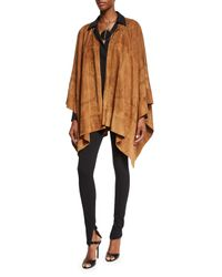Ralph Lauren Collection - Black Heavy-Knit Stretch-Jersey Leggings - Lyst