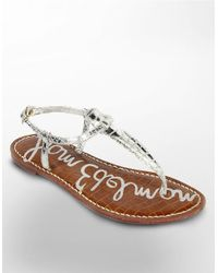 Sam Edelman | Metallic Gigi Thong Slide Sandals | Lyst