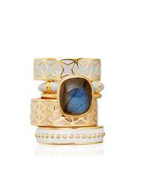 Astley Clarke   Blue Sea Shell Beaded Enamel Ring   Lyst