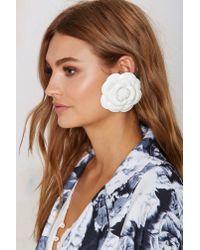 Nasty Gal | White Rosetta Earring | Lyst