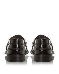 Bertie | Black Royce Plain College Loafers for Men | Lyst