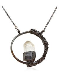 Voodoo Jewels | Black Crystal Round Necklace | Lyst