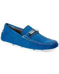 Calvin Klein | Blue Milton Suede Bit Drivers for Men | Lyst