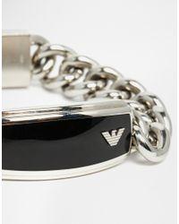 Emporio Armani | Metallic Eagle Bracelet for Men | Lyst