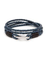 Ted Baker - Blue Treebee Plaited Leather Band Bracelet for Men - Lyst