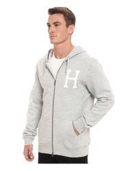 Huf - Gray Pt Zip-up Hoodie for Men - Lyst