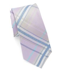 Vince Camuto | Purple Marta Plaid Silk Tie for Men | Lyst