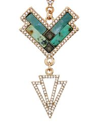 Lulu Frost | Green Ortiga Mosaic Statement Necklace | Lyst