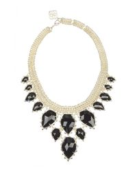 Kendra Scott | Black Gretchen Crystal Statement Necklace for Men | Lyst