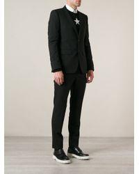 Givenchy - Black V-Neck Suit Jacket for Men - Lyst