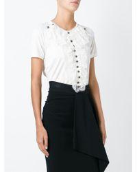 Dolce & Gabbana - White Floral Lace Bib T-shirt - Lyst