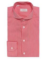 Eton of Sweden - Red Slim Fit Striped Shirt for Men - Lyst