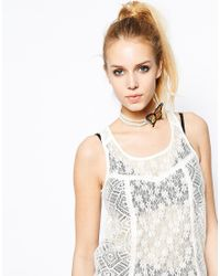 ASOS   Multicolor Limited Edition Butterfly Faux Pearl Choker Necklace   Lyst