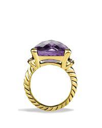 David Yurman | Yellow Wheaton Ring With Amethyst & Diamonds In Gold | Lyst