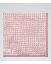 Reiss | Pink Savoy Printed Silk Pocket Square for Men | Lyst