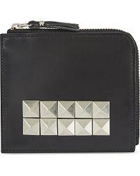 Comme des Garçons | Black Studded Wallet | Lyst