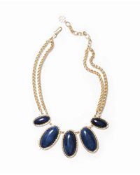 Ann Taylor - Blue Luna Statement Necklace - Lyst