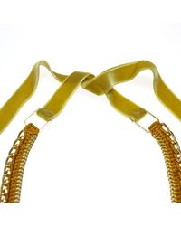 Margot & Me | Orange Crochet Necklace Willow In Gold | Lyst