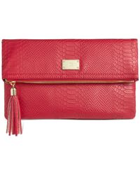 INC International Concepts | Red Frita Convertible Clutch Crossbody | Lyst