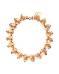 J.Crew - Pink Teardrop Necklace - Lyst
