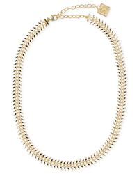 Anne Klein | Metallic Bar Detail Collar Necklace | Lyst