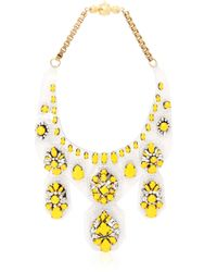 Shourouk | Yellow Barbara Safran Necklace | Lyst