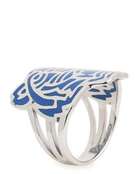 KENZO | Blue Sterling Silver Tiger Ring | Lyst