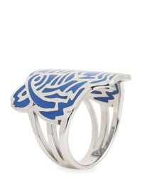 KENZO - Blue Sterling Silver Tiger Ring - Lyst