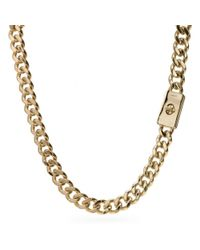 COACH | Metallic Curbchain Short Turnlock Necklace | Lyst