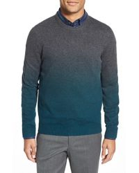 Ted Baker | Gray 'holaday' Modern Slim Fit Ombre Crewneck Sweater for Men | Lyst