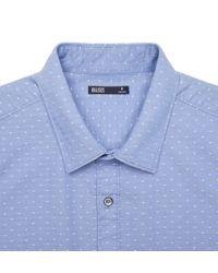 Onassis Clothing | Blue Dot Jacquard Shirt for Men | Lyst