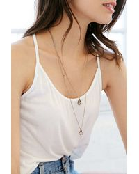 Urban Outfitters - Metallic Ancient Melodies Double-Layer Necklace - Lyst