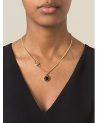 Marc By Marc Jacobs - Black Logo Disc Chain Necklace - Lyst
