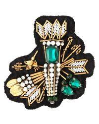 N°21 | Black Arrow Crystal-Embellished Brooch | Lyst
