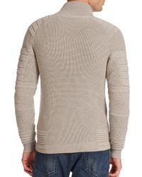 Ralph Lauren Black Label - Gray Multi Textured Merino Wool Cardigan for Men - Lyst