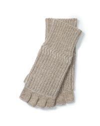 Polo Ralph Lauren - Natural Merino Wool Fingerless Gloves - Lyst