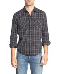 Timberland | Black 'warner' Slim Fit Plaid Sport Shirt for Men | Lyst