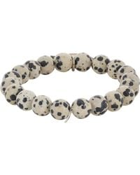Miracle Icons - Black Dalmation Jasper Charm Bracelet for Men - Lyst