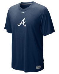 Nike | Blue Short-sleeve Dri-fit Atlanta Braves Men's T-shirt for Men | Lyst