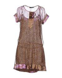 Liu Jo - Purple Short Dress - Lyst